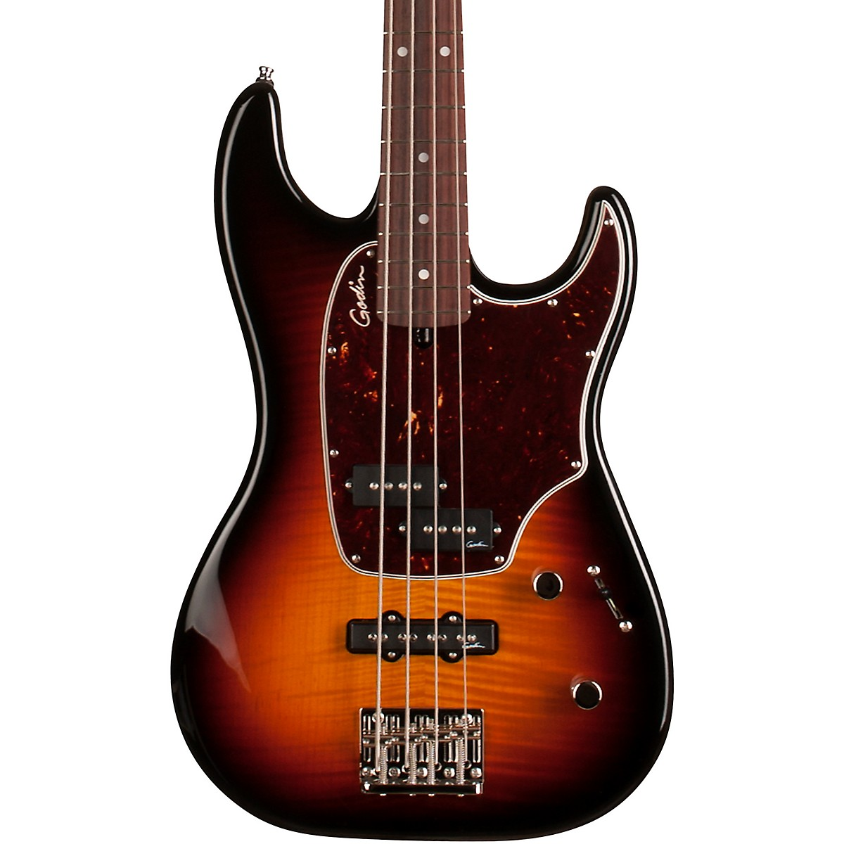 Godin Shifter Classic 4 Flame Top Electric Bass Guitar