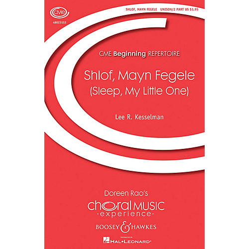 Boosey and Hawkes Shlof, Mayn Fegele (Sleep, My Little One) UNIS/2PT arranged by Lee Kesselman
