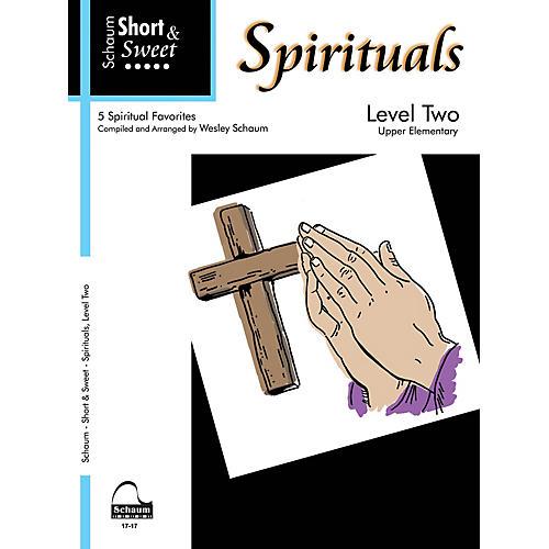 SCHAUM Short & Sweet: Spirituals (Level 2 Upper Elem Level) Educational Piano Book