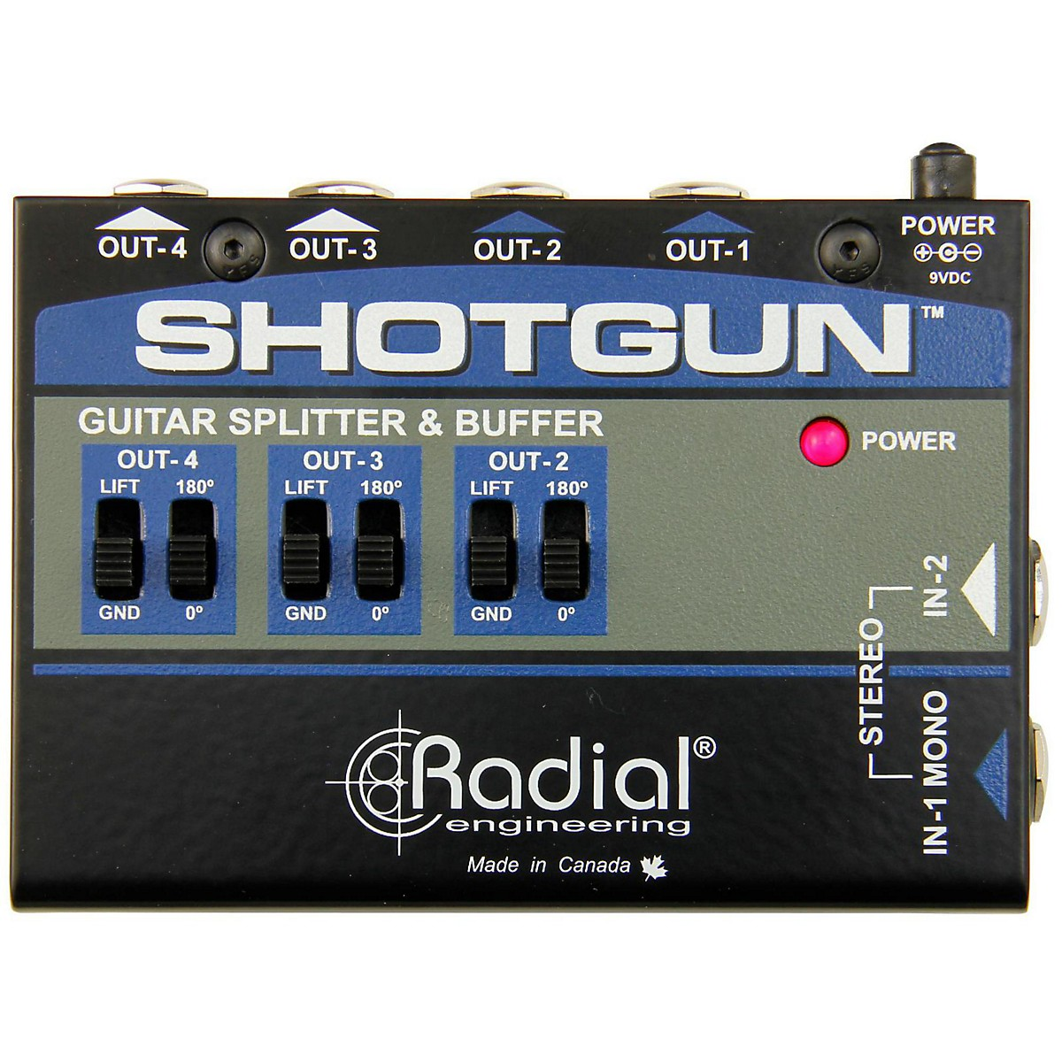 Radial Engineering Shotgun 4 Channel Amp Driver