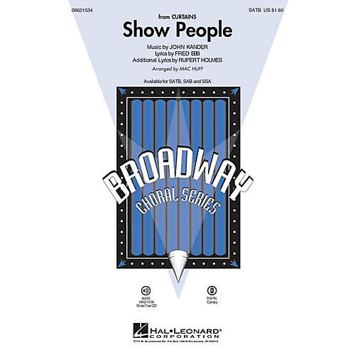 Hal Leonard Show People (from Curtains) ShowTrax CD Arranged by Mac Huff