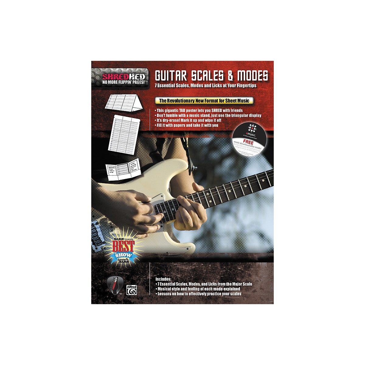 Alfred Shredhed Guitar Scales & Modes Poster