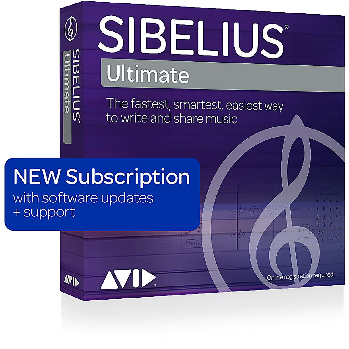 Avid Sibelius Ultimate NEW 1-Year Subscription with Updates + Support (Download)