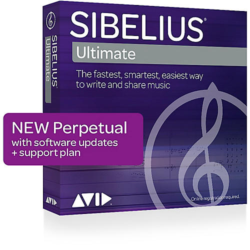 Avid Sibelius Ultimate NEW Perpetual License with 1-Year of Updates + Support (Download)