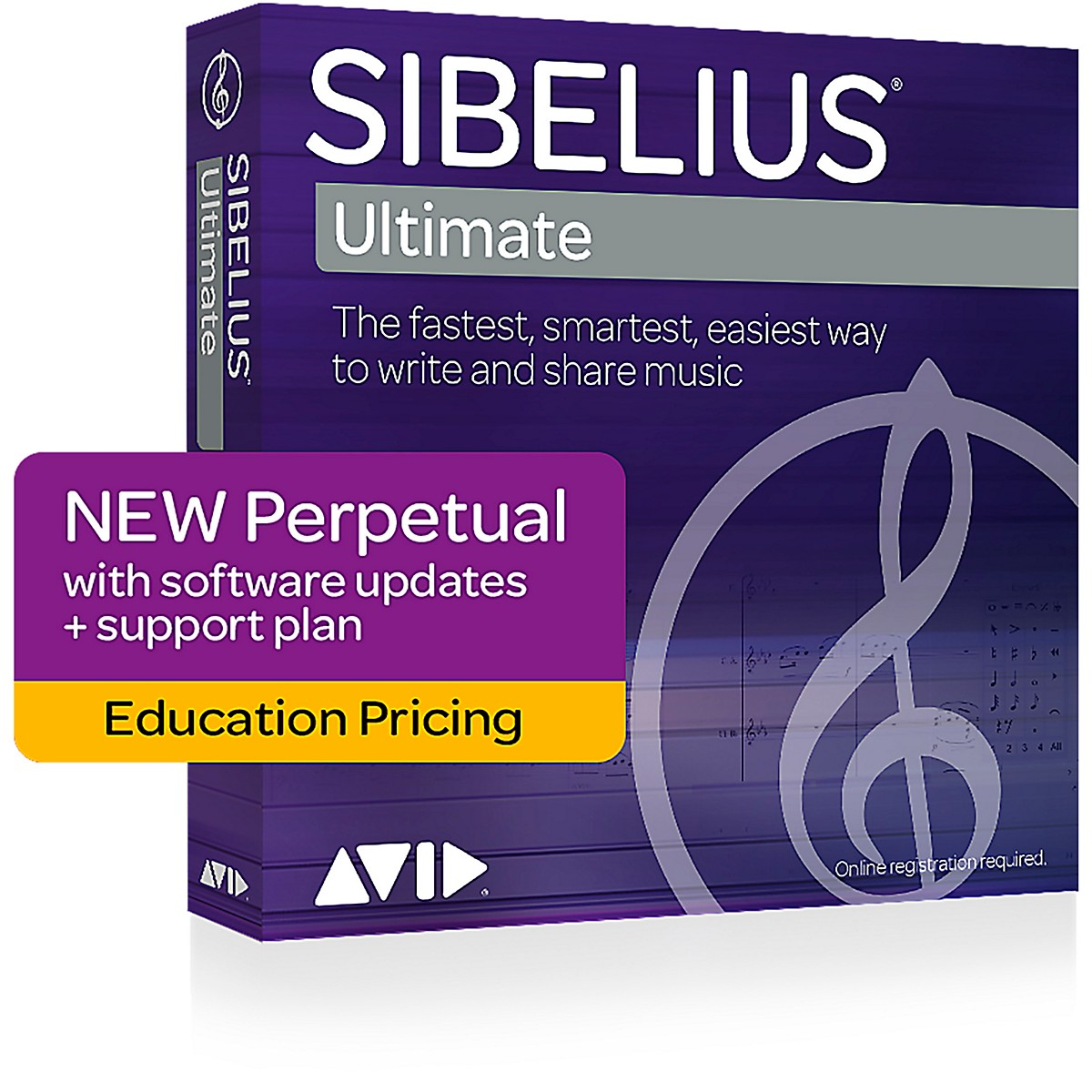 Avid Sibelius Ultimate NEW Perpetual License with 1 Year of Updates + Support for Students/Teachers (Download)