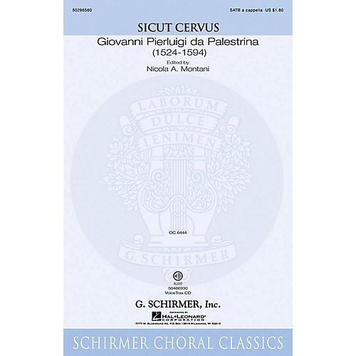 G. Schirmer Sicut Cervus VoiceTrax CD Composed by Giovanni Palestrina
