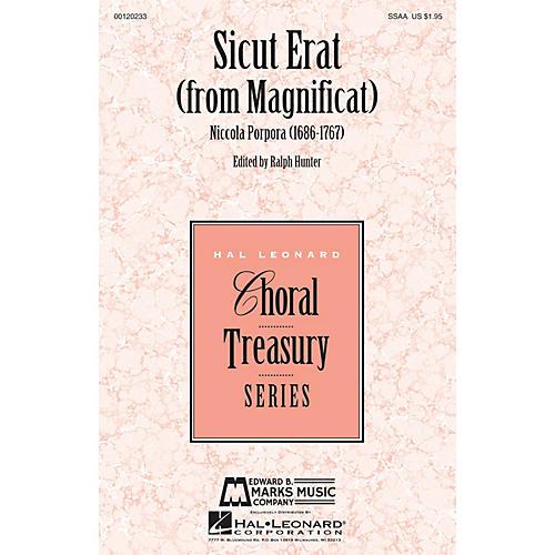 Hal Leonard Sicut Erat (from Magnificat) SSAA composed by Niccola Porpora