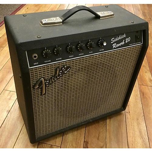 Fender Sidekick Reverb 20 Black And Silver Guitar Combo Amp