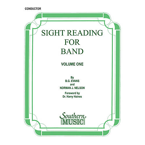 Southern Sight Reading for Band, Book 1 (Conductor) Concert Band Level 2 Composed by Billy Evans