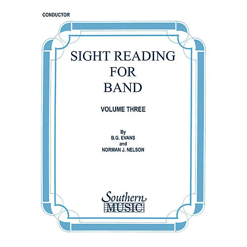 Southern Sight Reading for Band, Book 3 (Baritone Saxophone) Southern Music Series  by Billy Evans