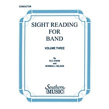 Southern Sight Reading for Band, Book 3 (Percussion 2) Southern Music Series Composed by Billy Evans