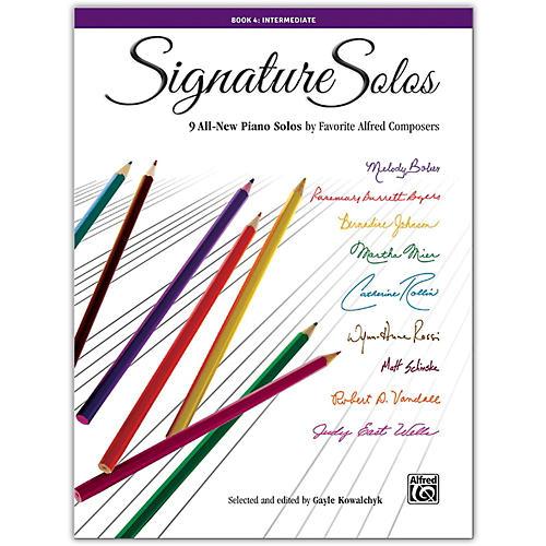 Alfred Signature Solos, Book 4 Intermediate