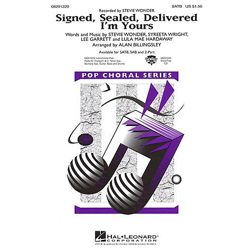 Hal Leonard Signed, Sealed, Delivered I'm Yours 2-Part by Stevie Wonder Arranged by Alan Billingsley