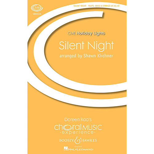 Boosey and Hawkes Silent Night (CME Holiday Lights) SATB arranged by Shawn Kirchner
