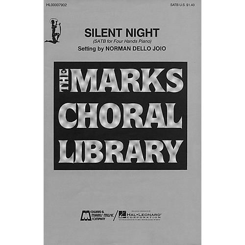 Edward B. Marks Music Company Silent Night (SATB and Piano, 4 Hands) SATB composed by Franz Grüber