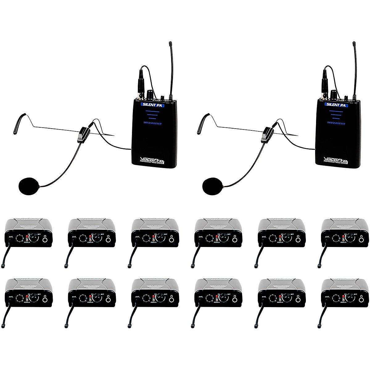 VocoPro SilentPA-IFB-12 One Way Communication System With 12 Receiver