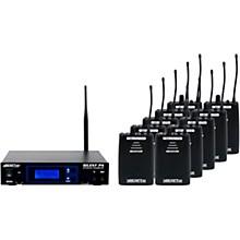 Vocopro SilentPA-SEMINAR10 16CH UHF Wireless Audio Broadcast System (Stationary Transmitter with ten bodypack receivers) Level 1  Black