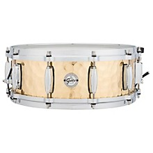 Silver Series Hammered Brass Snare Drum 14 x 5