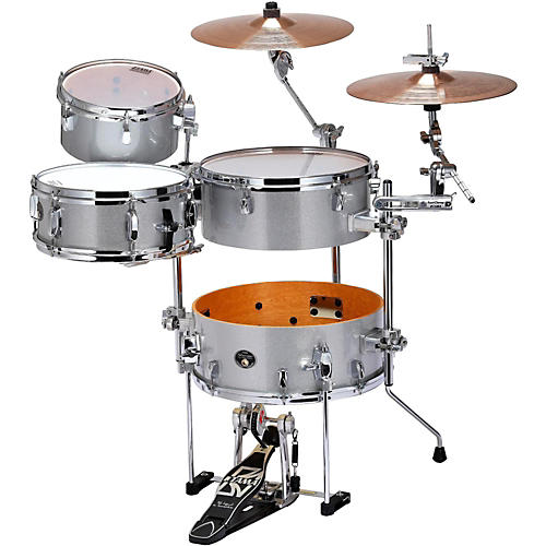 tama silverstar cocktail jam 4 piece kit with bass drum pedal and emad bass drum head white. Black Bedroom Furniture Sets. Home Design Ideas