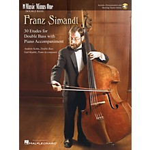 Music Minus One Simandl - 30 Etudes for Double Bass Music Minus One Series Softcover Audio Online by Andrew Kohn