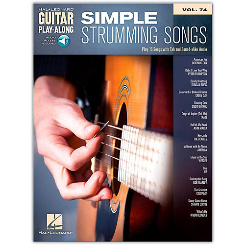 hal leonard simple strumming songs guitar play along vol 74 book online audio guitar center. Black Bedroom Furniture Sets. Home Design Ideas