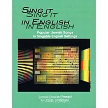 Tara Publications Sing It in English (54 Popular Jewish Songs in Singable English Settings) Tara Books Series Softcover