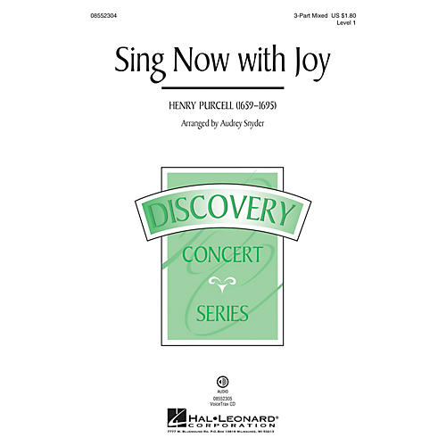 Hal Leonard Sing Now with Joy (Discovery Level 1) 3-Part Mixed arranged by Audrey Snyder