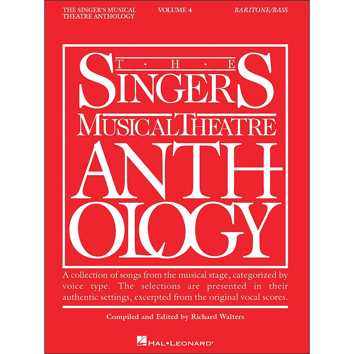 Hal Leonard Singer's Musical Theatre Anthology Baritone / Bass Volume 4