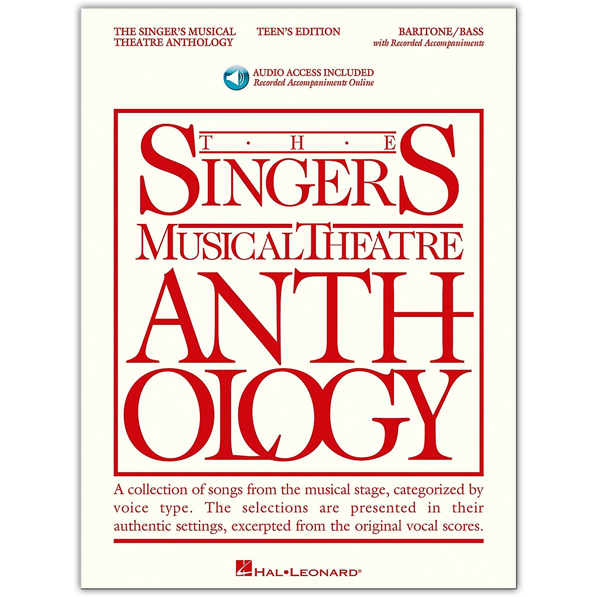 Hal Leonard Singer's Musical Theatre Anthology Teen's Edition Baritone/Bass Book/Online Audio