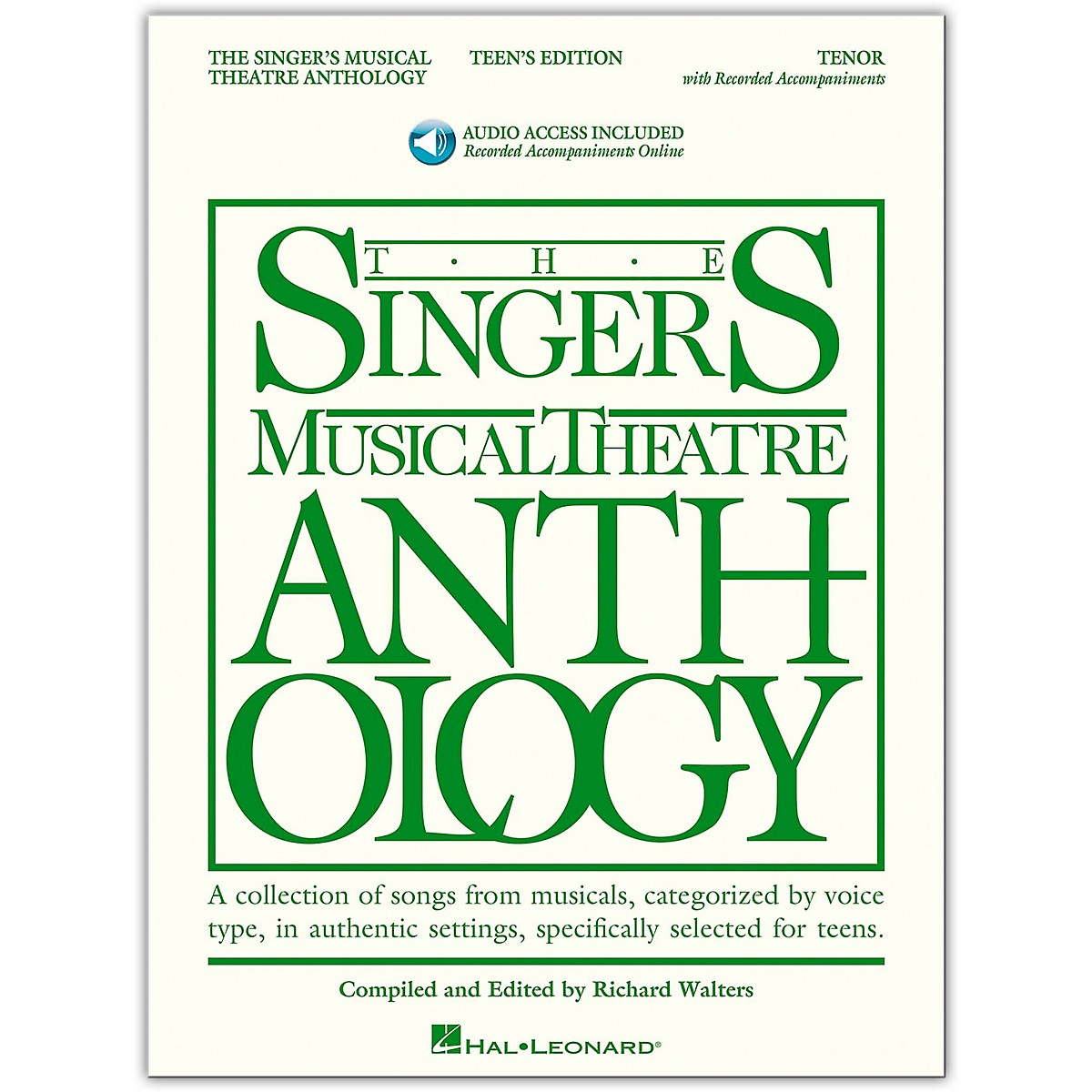 Hal Leonard Singer's Musical Theatre Anthology Teen's Edition Tenor Book/Online Audio