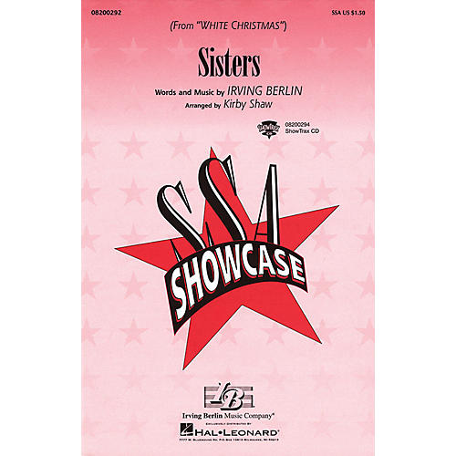 Hal Leonard Sisters (from White Christmas) SSA arranged by Kirby Shaw