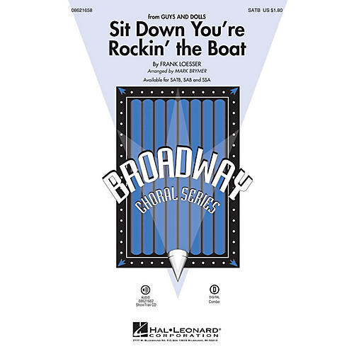 Hal Leonard Sit Down You're Rockin' the Boat (from Guys and Dolls) ShowTrax CD Arranged by Mark Brymer