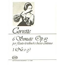 Editio Musica Budapest Six (6) Sonatas For Flute (violin) And Basso Continuo Op13 Volume 1 Nos 1-3 EMB Series