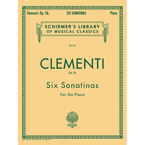 G. Schirmer Six Sonatinas Op 36 Piano By Clementi