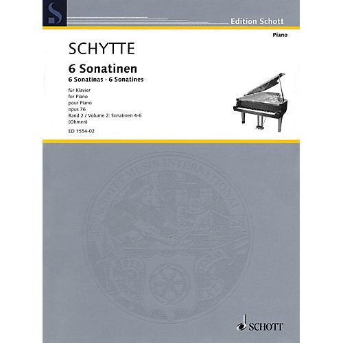 Schott Six Sonatinas, Op. 76, Vol. 2 (Nos. 4-6) Schott Softcover Composed by Schytte Edited by Wilhelm Ohmen