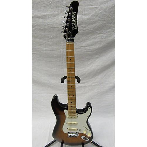 used hamer slammer series solid body electric guitar 2 tone sunburst guitar center. Black Bedroom Furniture Sets. Home Design Ideas