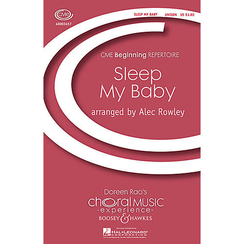 Boosey and Hawkes Sleep My Baby (CME Beginning) UNIS arranged by Alec Rowley