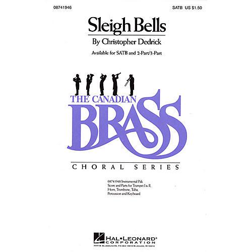 Hal Leonard Sleigh Bells SATB composed by Christopher Dedrick