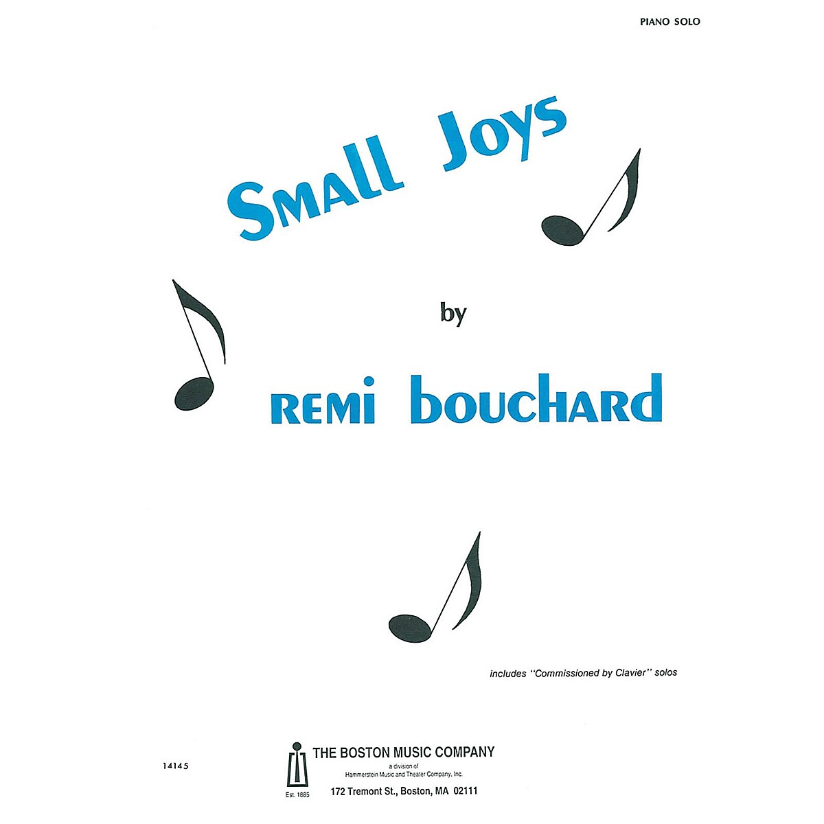 Boston Music Small Joys Music Sales America Series Softcover Composed by Rémi Bouchard