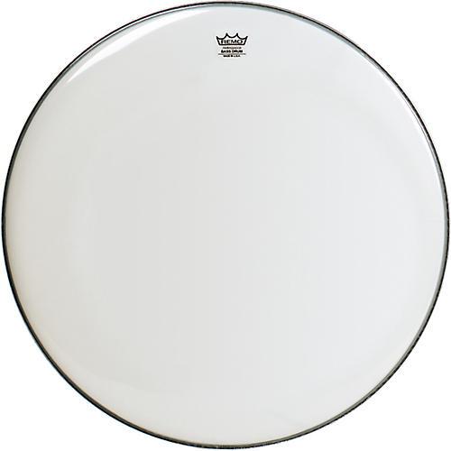 Remo Smooth White Ambassador Bass Drumhead