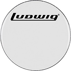 ludwig smooth white bass drum head guitar center. Black Bedroom Furniture Sets. Home Design Ideas