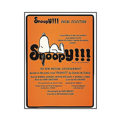 Hal Leonard Snoopy arranged for piano, vocal, and guitar (P/V/G)