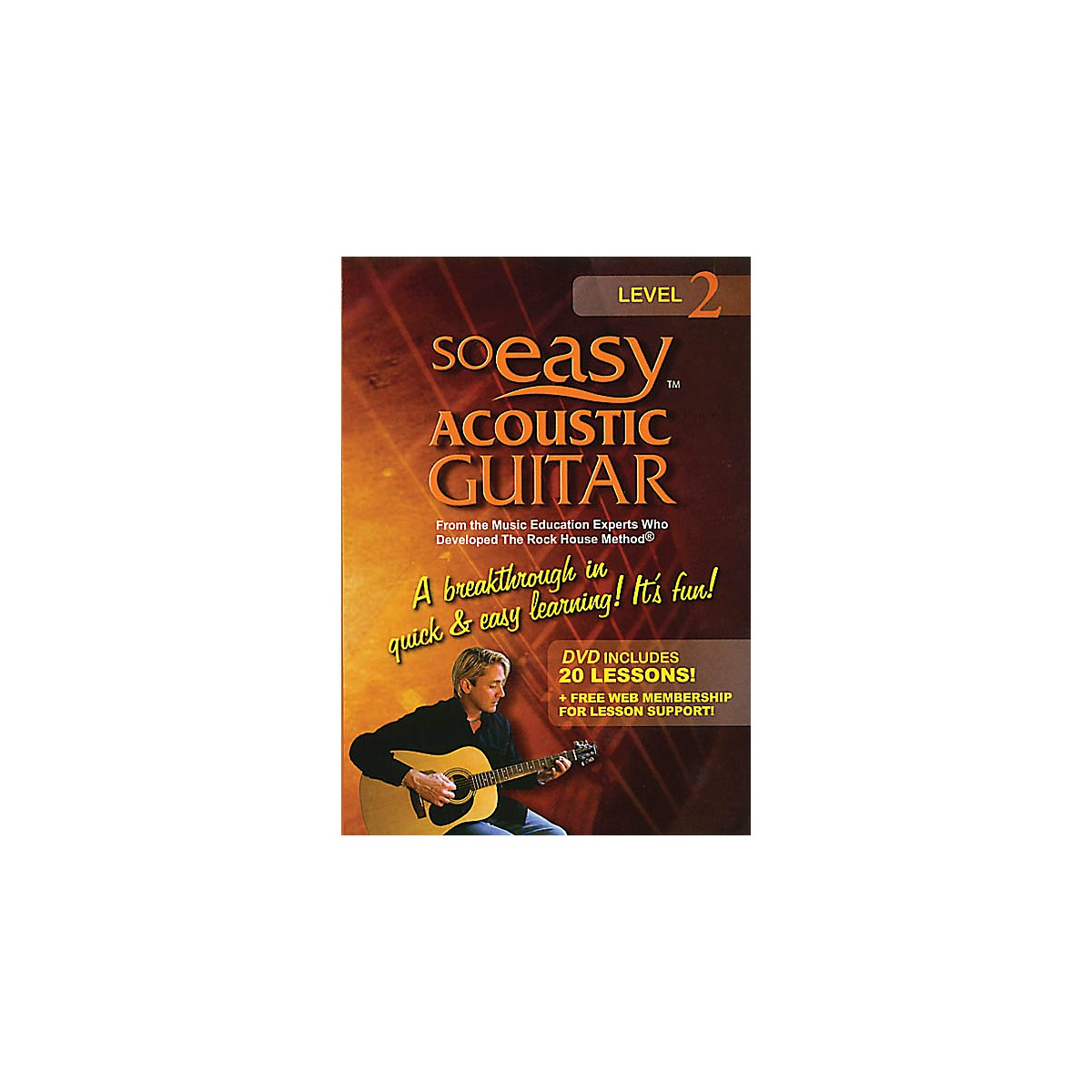 Rock House So Easy Acoustic Guitar - Level 2 Rock House Series DVD Written by John McCarthy