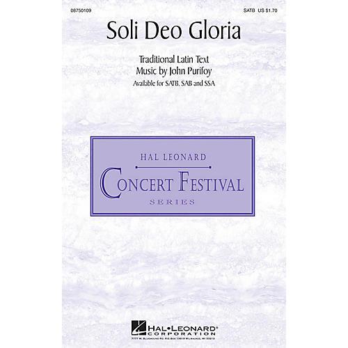 Hal Leonard Soli Deo Gloria SSA Composed by John Purifoy