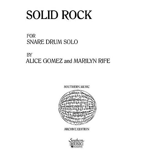 Hal Leonard Solid Rock (Percussion Music/Snare Drum Unaccompanied) Southern Music Series Composed by Gomez, Alice