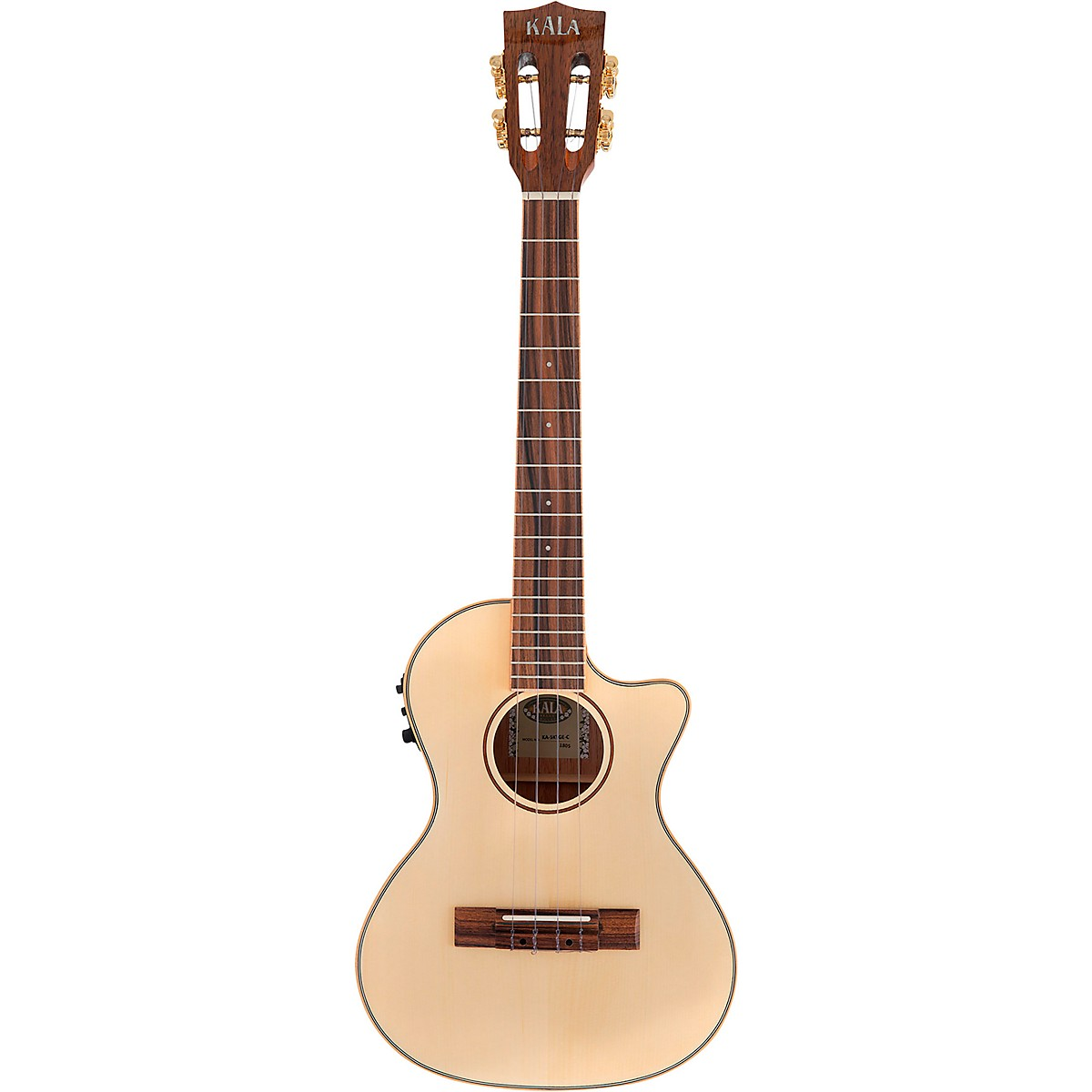 Kala Solid Spruce Top Koa Gloss Cutaway Acoustic-Electric Tenor Ukulele