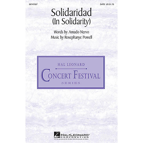 Hal Leonard Solidaridad (In Solidarity) SATB composed by Rosephanye Powell