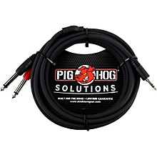 """Pig Hog Soliutions Stereo Breakout Cable 3.5mm to Dual 1/4"""" (3 ft.)"""