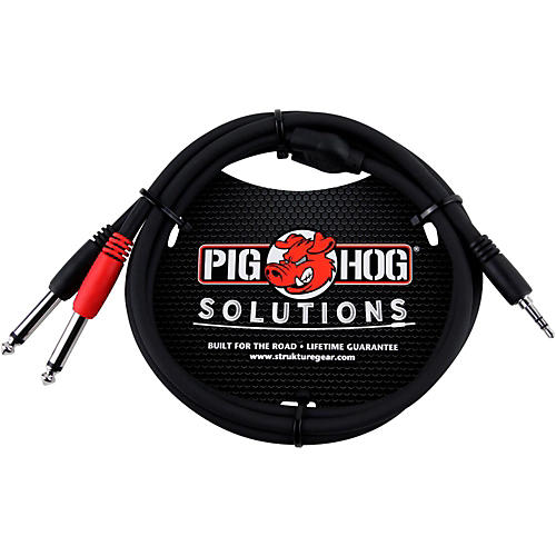 Pig Hog Soliutions Stereo Breakout Cable 3.5mm to Dual 1/4