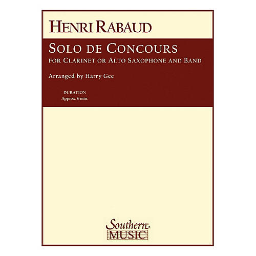 Southern Solo De Concours Concert Band Level 4 Arranged by Harry Gee